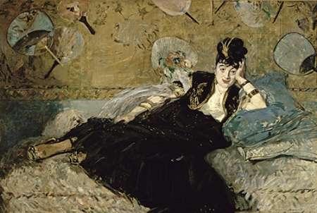 konfigurieren des Kunstdrucks in Wunschgröße La Dame aux Eventails; Nina de Callias, 1873-74 von Manet, Edouard