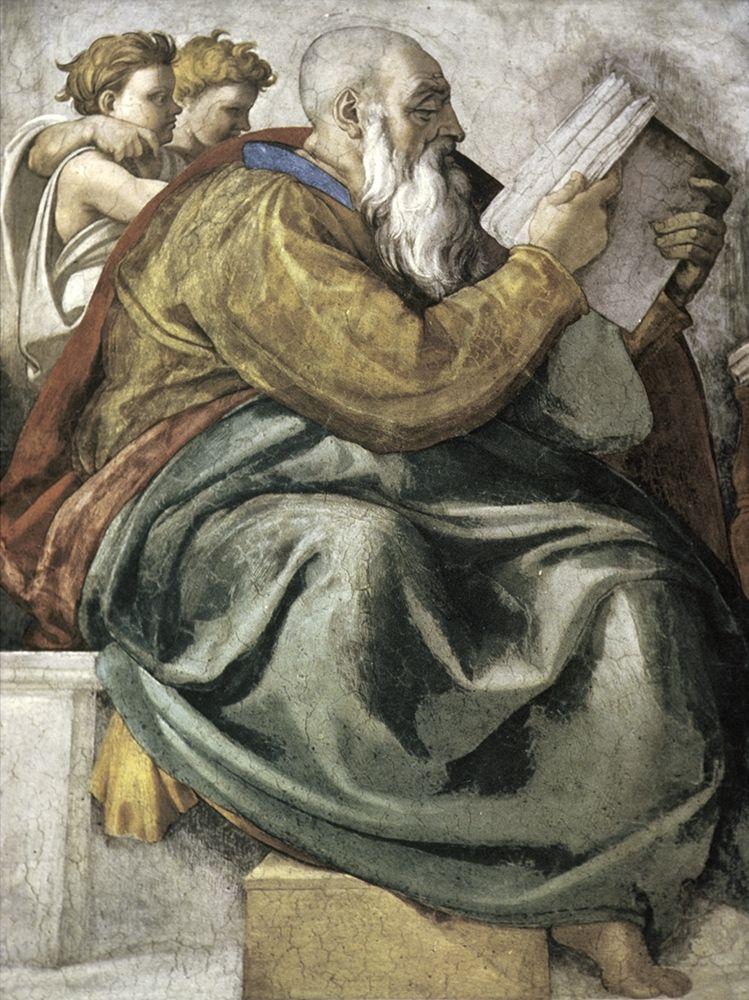 konfigurieren des Kunstdrucks in Wunschgröße The Prophet Zechariah von Michelangelo