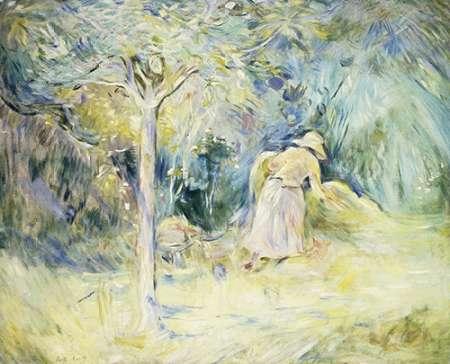 konfigurieren des Kunstdrucks in Wunschgröße Les Foins a Mezy von Morisot, Berthe