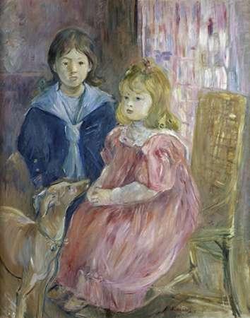 konfigurieren des Kunstdrucks in Wunschgröße The Gabriel Children von Morisot, Berthe