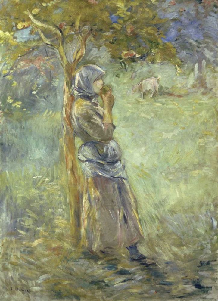 konfigurieren des Kunstdrucks in Wunschgröße Under the Apple Tree von Morisot, Berthe