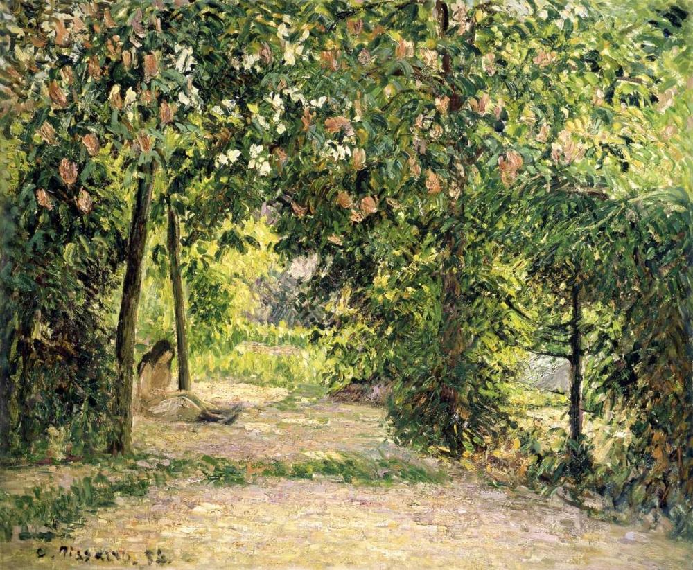 konfigurieren des Kunstdrucks in Wunschgröße The Garden in Springtime at Eragny von Pissarro, Camille