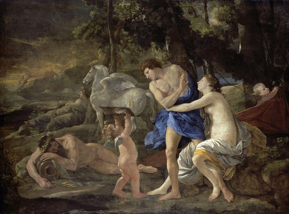 konfigurieren des Kunstdrucks in Wunschgröße Cephalus and Aurora von Poussin, Nicolas