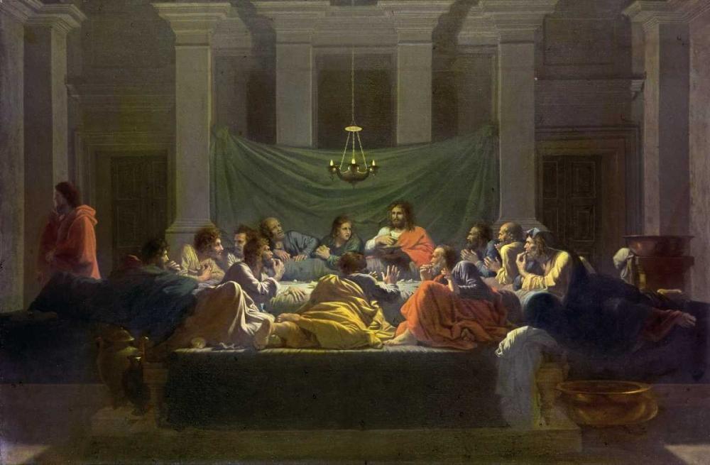konfigurieren des Kunstdrucks in Wunschgröße The Last Supper von Poussin, Nicolas