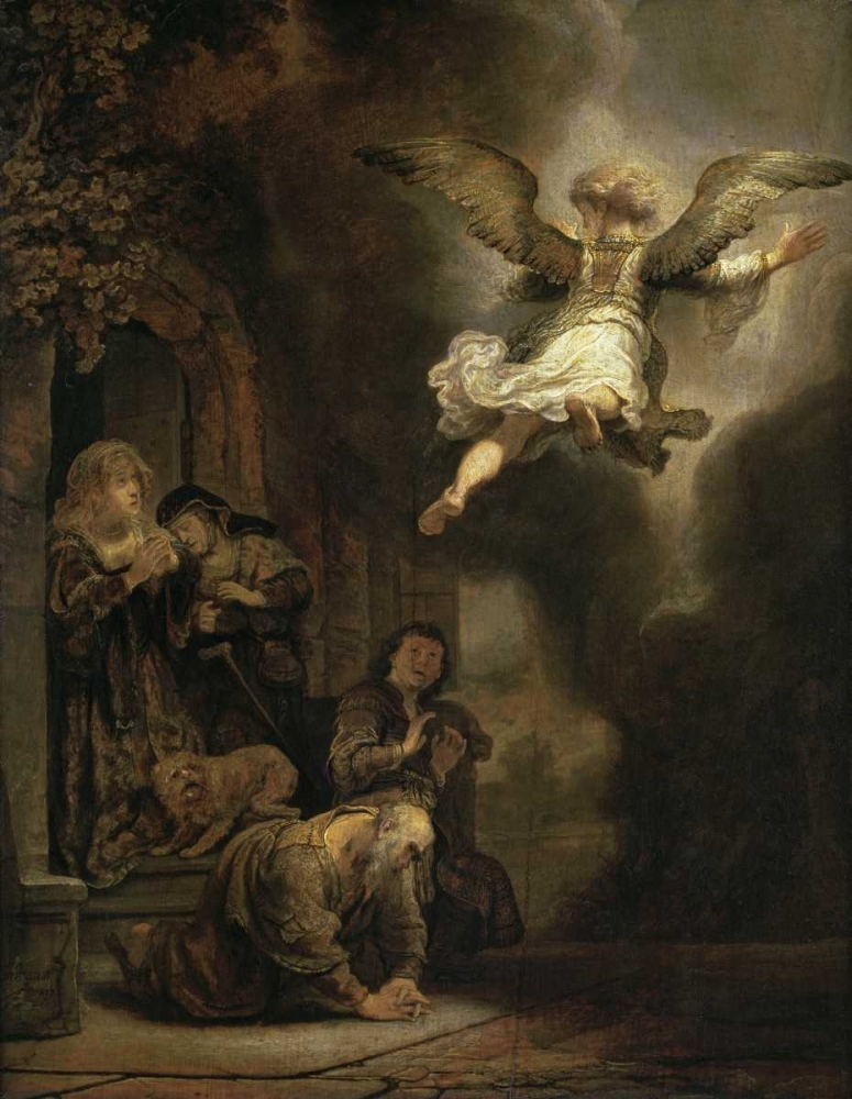 Archangel Raphael Leaving the Family of Tobias von Rembrandt, van Rijen <br> max. 79 x 102cm <br> Preis: ab 10€