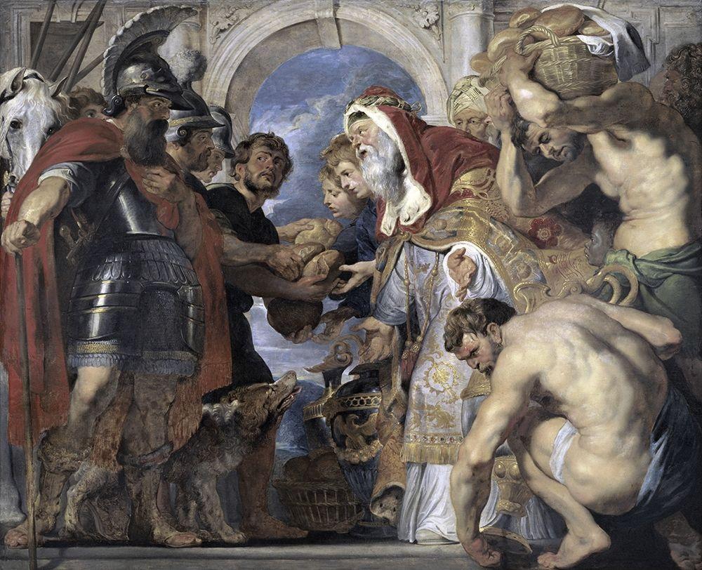 konfigurieren des Kunstdrucks in Wunschgröße Abraham and Melchizedek von Rubens, Peter Paul