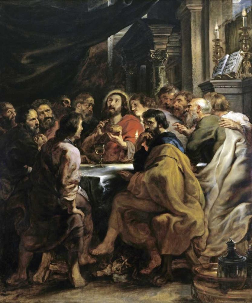 konfigurieren des Kunstdrucks in Wunschgröße The Last Supper von Rubens, Peter Paul