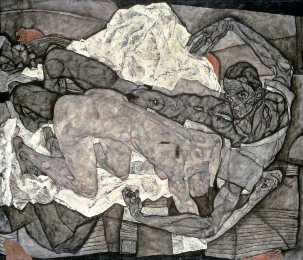 konfigurieren des Kunstdrucks in Wunschgröße Liebespaar - Mann Und Frau I von Schiele, Egon