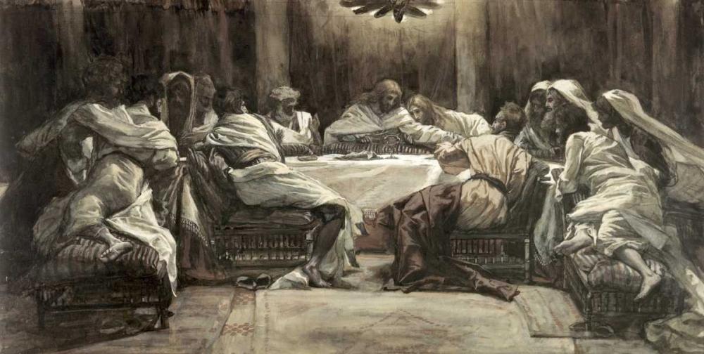 konfigurieren des Kunstdrucks in Wunschgröße The Lords Supper von Tissot, James Jacques