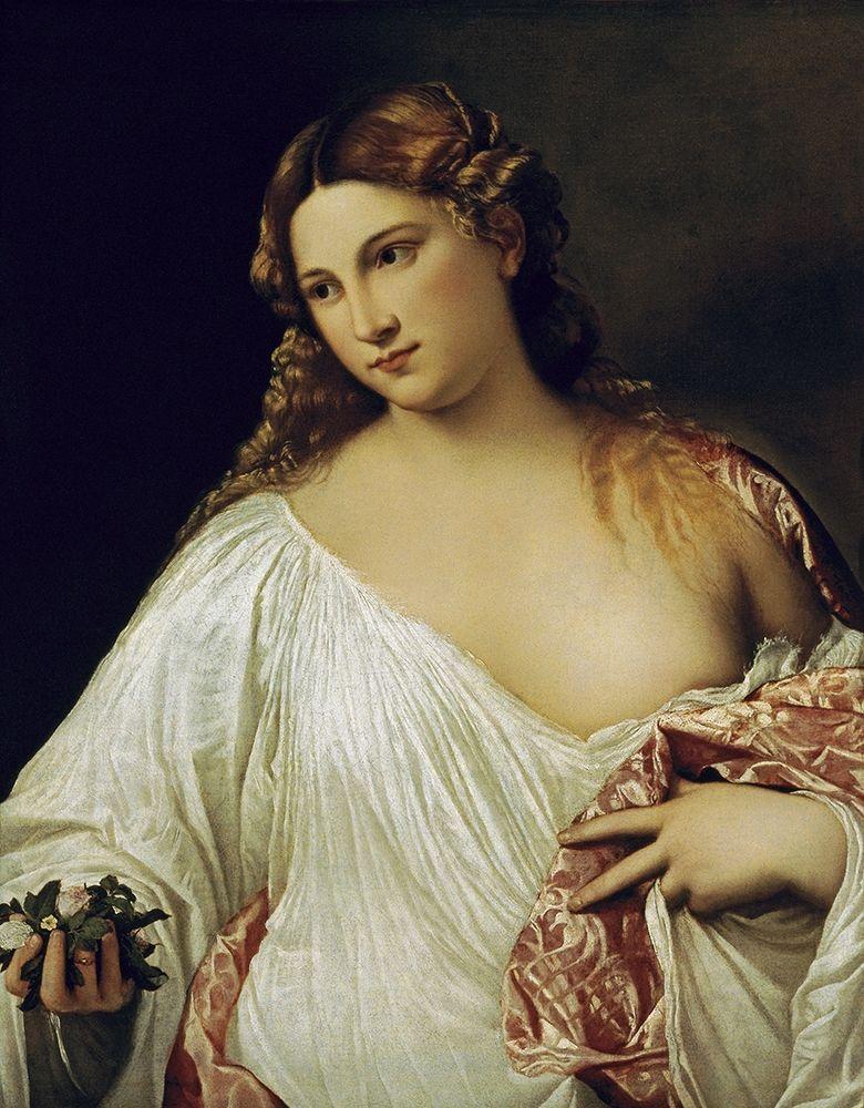 konfigurieren des Kunstdrucks in Wunschgröße Flora von Titian