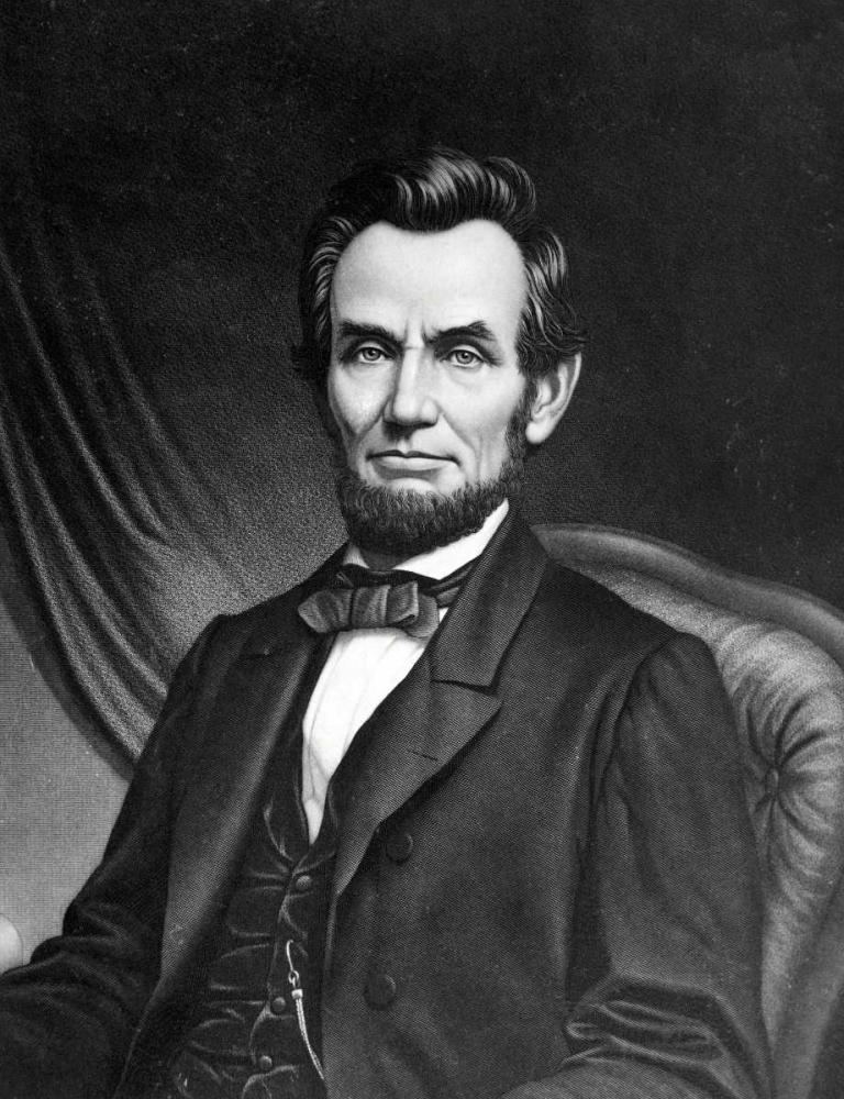 konfigurieren des Kunstdrucks in Wunschgröße Abraham Lincoln von Unknown