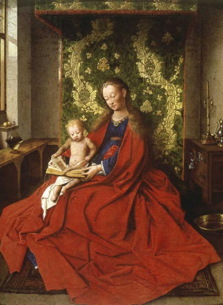 konfigurieren des Kunstdrucks in Wunschgröße Madonna and Child von Van Eyck, Jan
