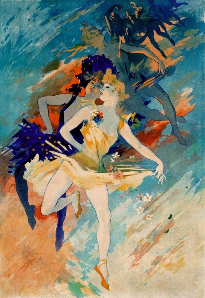 Les Arts / La Danse von Cheret, Jules <br> max. 112 x 163cm <br> Preis: ab 10€