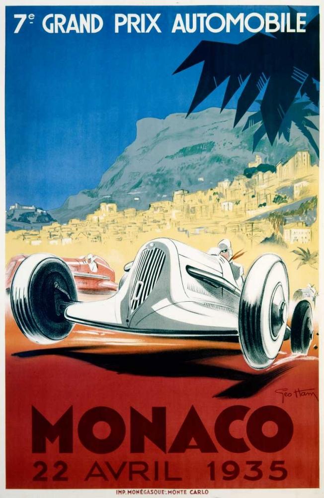 konfigurieren des Kunstdrucks in Wunschgröße Monaco / 22 Avril 1935 von Einzelbilder