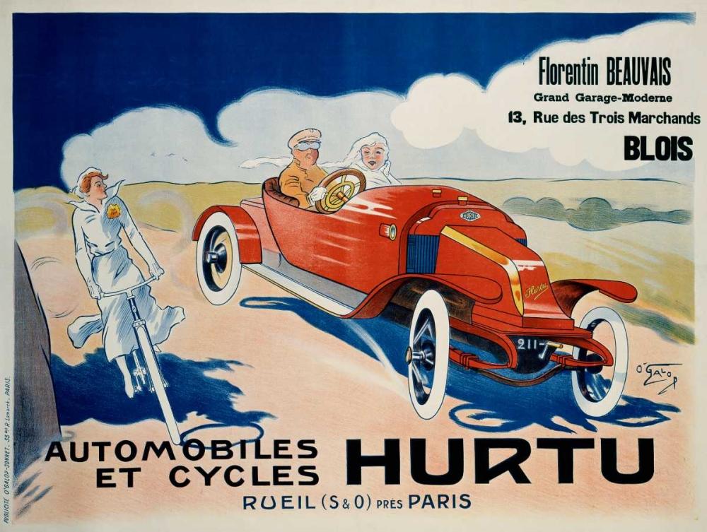 konfigurieren des Kunstdrucks in Wunschgröße Hurtu Automobiles et Cycles von Einzelbilder