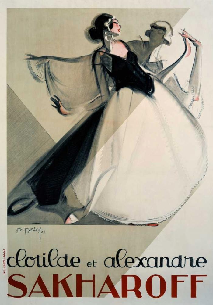 Clotilde et Alexandre Sakharoff von Petit, Philippe <br> max. 112 x 160cm <br> Preis: ab 10€