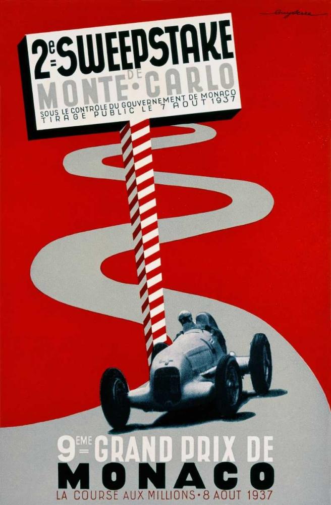 konfigurieren des Kunstdrucks in Wunschgröße 2e Sweepstake de Monte-Carlo / 9eme Grand Prix de Monaco von Einzelbilder