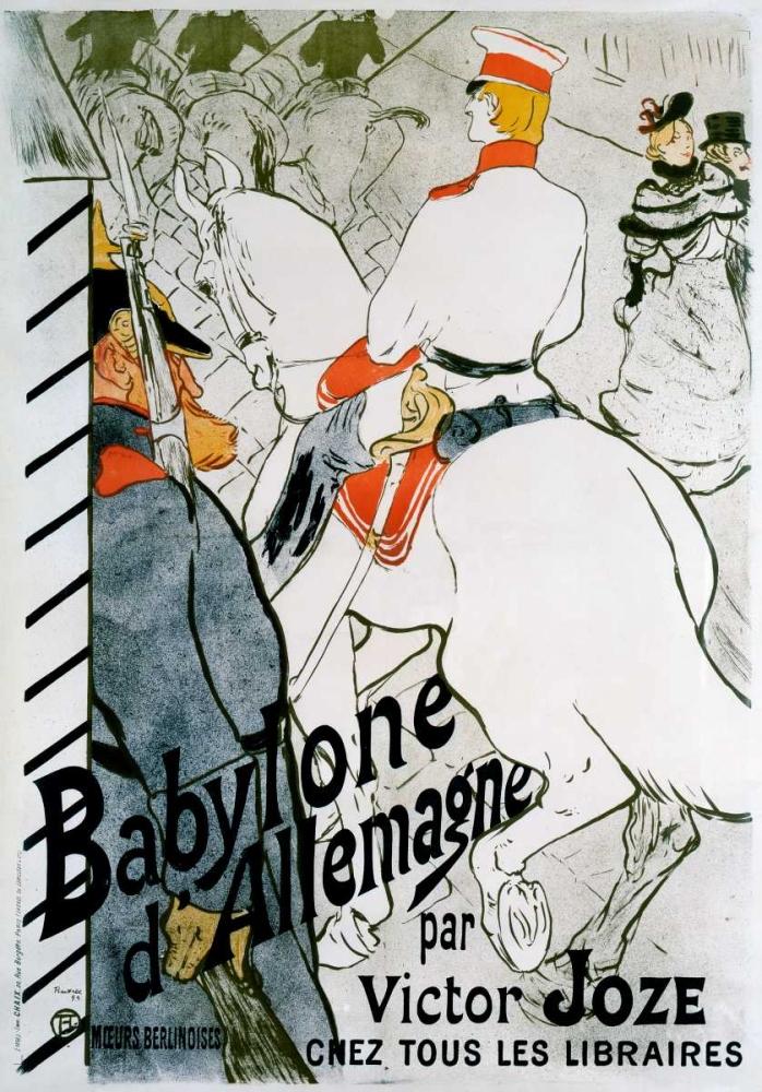konfigurieren des Kunstdrucks in Wunschgröße Babylone d'Allemagne von Toulouse-Lautrec, Henri