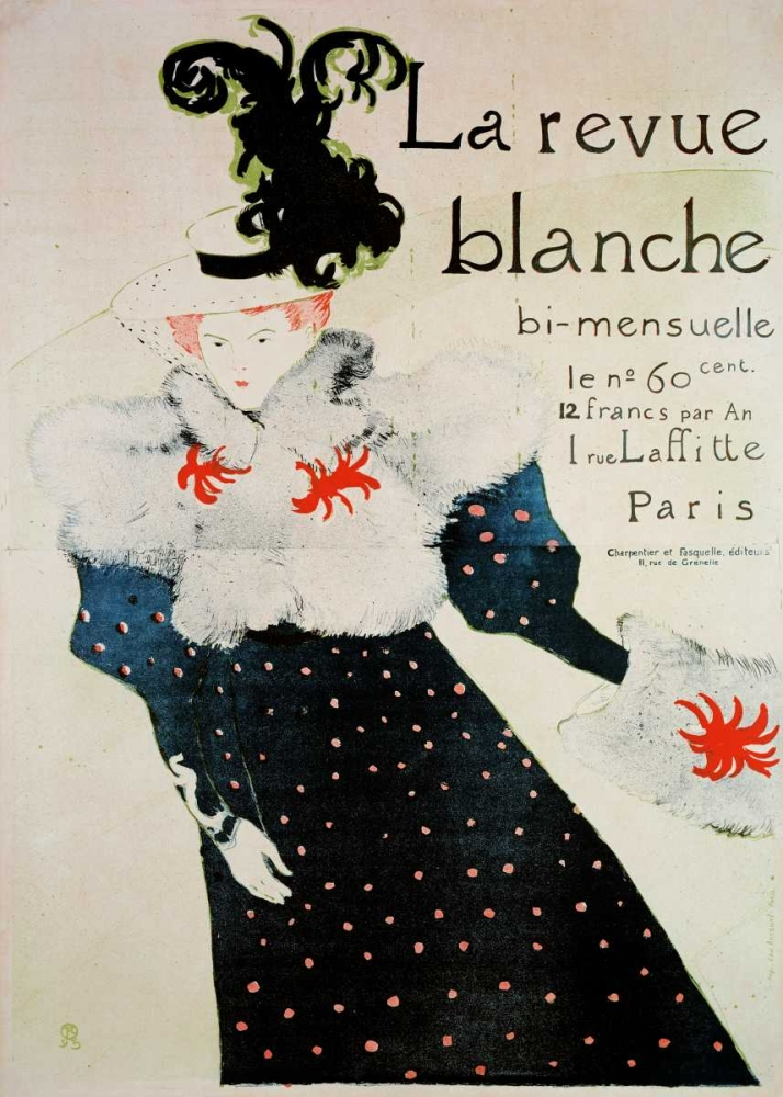 konfigurieren des Kunstdrucks in Wunschgröße La Revue Blanche von Toulouse-Lautrec, Henri