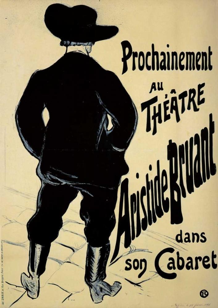konfigurieren des Kunstdrucks in Wunschgröße Theatre Aristide Bruant von Toulouse-Lautrec, Henri