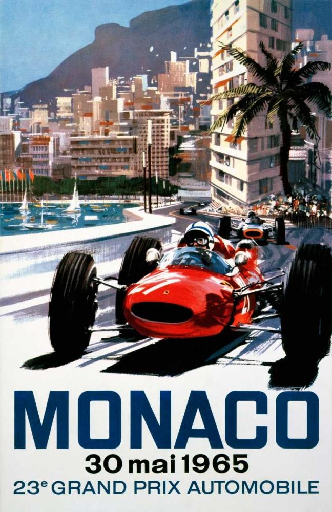 konfigurieren des Kunstdrucks in Wunschgröße Monaco Grand Prix 1965 von Turner, Michael