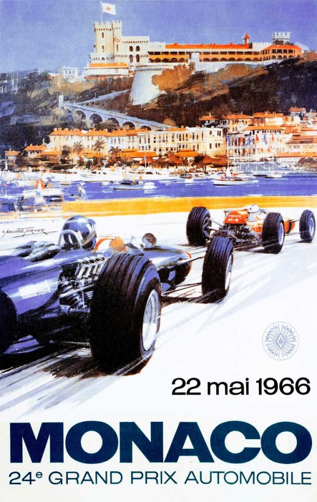 konfigurieren des Kunstdrucks in Wunschgröße Monaco Grand Prix 1966 von Turner, Michael