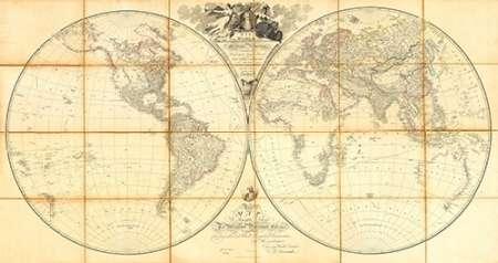 konfigurieren des Kunstdrucks in Wunschgröße Map of the World, Researches of Capt. James Cook, 1808 von Arrowsmith, Aaron