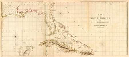 konfigurieren des Kunstdrucks in Wunschgröße West Indies I, 1810 von Arrowsmith, Aaron