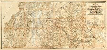 konfigurieren des Kunstdrucks in Wunschgröße The Central Part of the State of California, 1865 von Einzelbilder