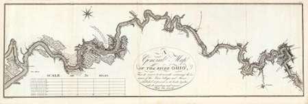 konfigurieren des Kunstdrucks in Wunschgröße A General Map of The River Ohio, 1796 von Collot, George Henri Victor