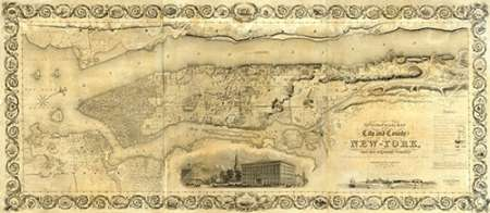 konfigurieren des Kunstdrucks in Wunschgröße City and County of New York, 1836 von Einzelbilder