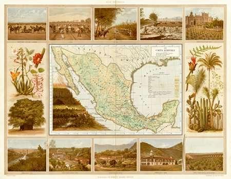konfigurieren des Kunstdrucks in Wunschgröße Carta Agricola, 1885 von Cubas, Antonio Garcia