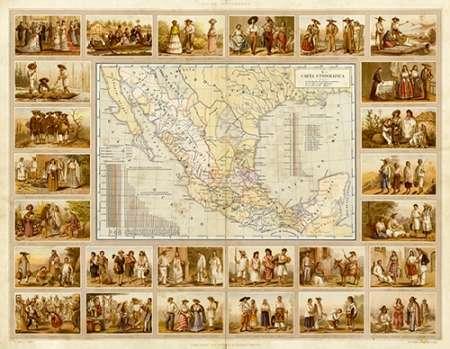 konfigurieren des Kunstdrucks in Wunschgröße Carta Etnografica, 1885 von Cubas, Antonio Garcia
