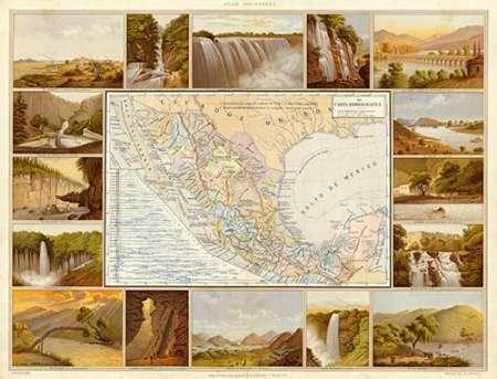 konfigurieren des Kunstdrucks in Wunschgröße Carta Hydrografica, 1885 von Cubas, Antonio Garcia