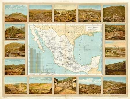 konfigurieren des Kunstdrucks in Wunschgröße Carta Minera, 1885 von Cubas, Antonio Garcia
