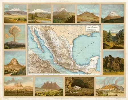 konfigurieren des Kunstdrucks in Wunschgröße Carta Orografica, 1885 von Cubas, Antonio Garcia