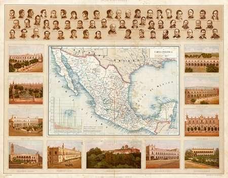 konfigurieren des Kunstdrucks in Wunschgröße Carta Politica, 1885 von Cubas, Antonio Garcia