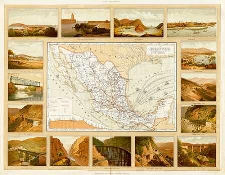 konfigurieren des Kunstdrucks in Wunschgröße Vias de Comunicacion y Movimiento Maritimo, 1885 von Cubas, Antonio Garcia