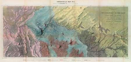 konfigurieren des Kunstdrucks in Wunschgröße Geological Map, Rio Colorado of the West, 1858 von Einzelbilder