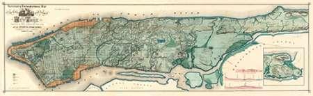 konfigurieren des Kunstdrucks in Wunschgröße Sanitary and Topographical Map of the City and Island of New York, 1865 von Einzelbilder