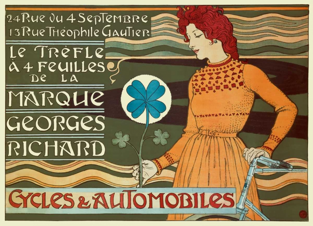 Marque Georges Richard/Cycles and Automobiles von Grasset, Eugene <br> max. 157 x 114cm <br> Preis: ab 10€