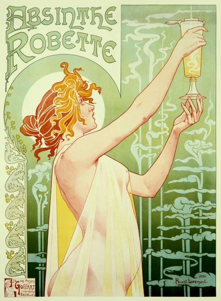konfigurieren des Kunstdrucks in Wunschgröße Absinthe Robette von Livemont, Privat