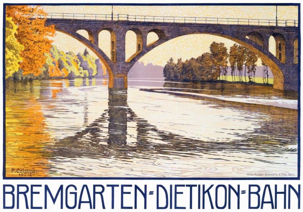 konfigurieren des Kunstdrucks in Wunschgröße Bremgarten-Dietikon-Bahn von Einzelbilder