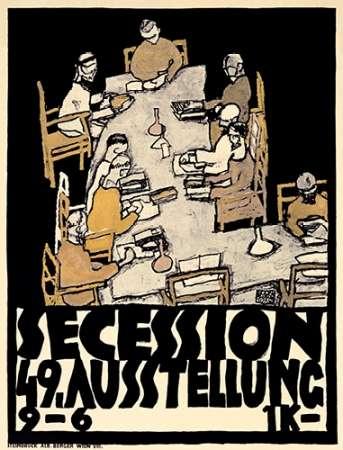 konfigurieren des Kunstdrucks in Wunschgröße Secession/49. Kunstausstellung von Schiele, Egon