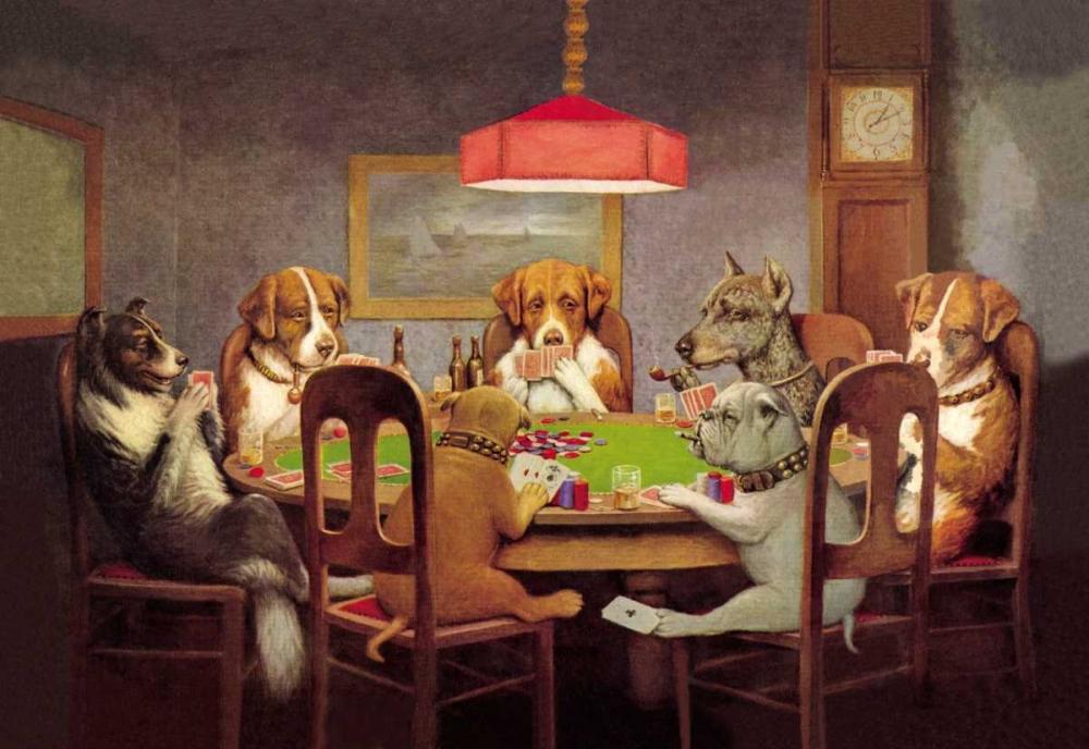 konfigurieren des Kunstdrucks in Wunschgröße Poker Dogs: A Friend in Need, 1903 von Coolidge, C.M.