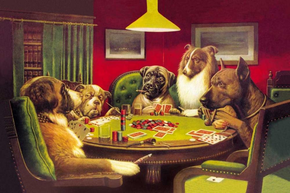 konfigurieren des Kunstdrucks in Wunschgröße Poker Dogs: A Bold Bluff, 1903 von Coolidge, C.M.