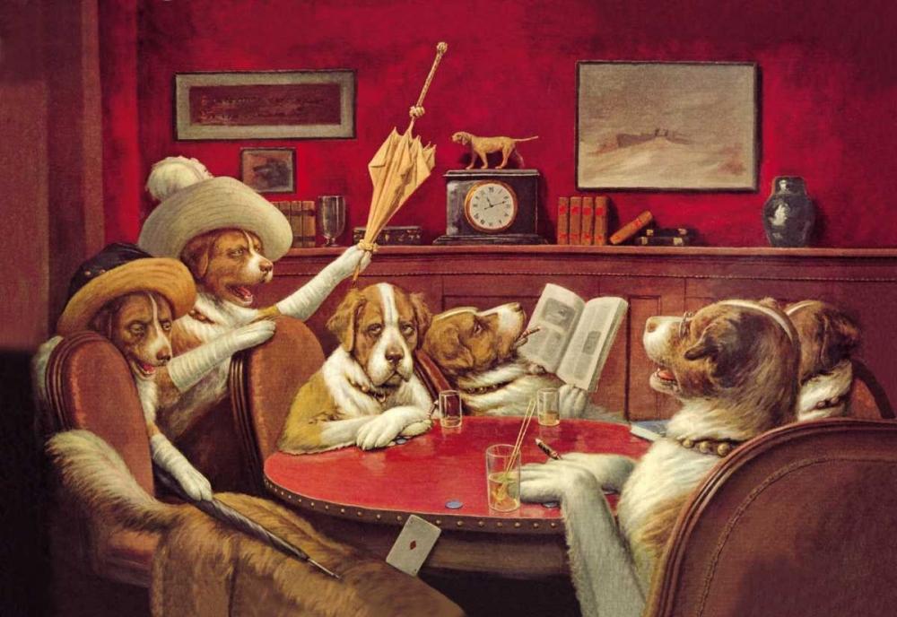 konfigurieren des Kunstdrucks in Wunschgröße Poker Dogs: This Game Is Over, 1903 von Coolidge, C.M.