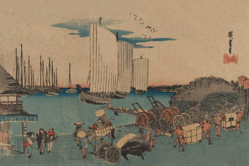 Okido at Takanawa (Takanawa okido no zu), 1832 von Hiroshige, Ando <br> max. 51 x 33cm <br> Preis: ab 10€
