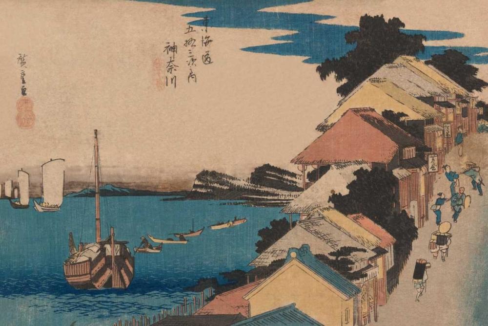 Kanagawa, 1836 von Hiroshige, Ando <br> max. 51 x 33cm <br> Preis: ab 10€