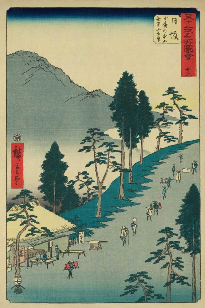 Nissaka, 1855 von Hiroshige, Ando <br> max. 61 x 91cm <br> Preis: ab 10€